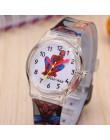 Spiderman Batman Cartoon zegarki dla dzieci 30M wodoodporny galaretki uroczy wzór pasek dzieci zegarek chłopcy Babys prezent Mon
