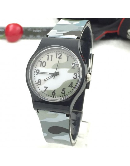 Kamuflaż dzieci zegarek dziewczęcy zegarek kwarcowy dla dziewczynek chłopiec wodoodporna bransoletka chłopiec kolorowe dziewczyn