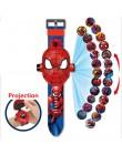 Księżniczka Spiderman zegarki dla dzieci projekcja Cartoon wzór cyfrowy dziecięcy zegarek dla chłopców dziewcząt LED zegar z wyś