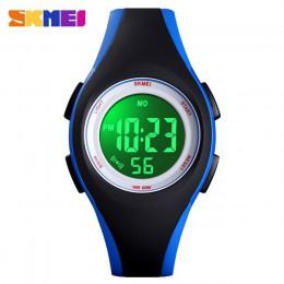 SKMEI dzieci LCD cyfrowy zegarek elektroniczny Sport zegarki Stop Watch Luminous 5Bar wodoodporne zegarki dla dzieci dla chłopcó