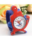 2016 Cartoon Spider-Man zegarki moda dzieci chłopcy dzieci Spider-Man studenci silikonowe zegarki sportowe analogowy zegarek na