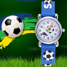 TMC 469 nowy stylowy 3D Cartoon silikonowe piłki nożnej Saats dzieci oglądać dzieci chłopcy studenci zegarki kwarcowe Dropshipp