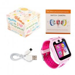 """Zegarek dziecięcy życie wodoodporna 1.54 """"kamera z ekranem dotykowym urządzenie namierzające SOS dzieci zegarki zegar S6"""