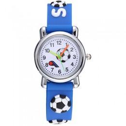 Śliczne 3D piłka nożna dla dzieci zegarki miękkiego silikonu piłka nożna pasek zegarek dla dzieci dla dzieci chłopcy dziewczęta