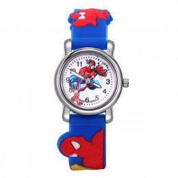 Zegarki dla dzieci chłopcy Spiderman bajkowy zegarek dla dzieci silikonowe sportowe zegarki kwarcowe prezenty dla chłopców Montr