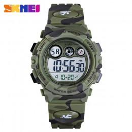 SKMEI sportowe zegarki dla dzieci młody i energiczny projekt tarczy zegarka 50M wodoodporne kolorowe diody led + światła EL relo