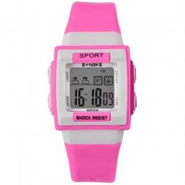 SYNOKE zegarek dziecięcy wodoodporny silikonowy zegarek cyfrowy moda dziecięca zegarek sportowy led zegarki dla uczniów godzinny