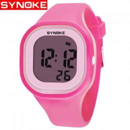 SYNOKE 2019 New Arrival kolorowe moda dzieci dzieci dziewczyna chłopiec zegarki Wrist Clock silikonowe światło led cyfrowe zegar