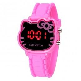 2019 proste marka LED Hodinky dzieci zegarki kwarcowe Cartoon zegarek na rękę dziewczyny żel krzemionkowy zegary Ceasuri Saat Re