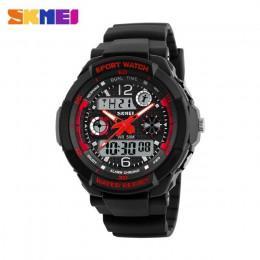 Marka skmei 50m wodoodporne zegarki dla dzieci LED wielofunkcyjny podwójny czas zegarki kwarcowe cyfrowe dla dzieci sukienka dla