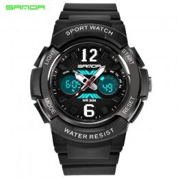 SANDA zegarek kwarcowy Sport dzieci zegarki LED zegarek cyfrowy chłopiec i dziewczynka uczeń wielofunkcyjny wodoodporny zegarek