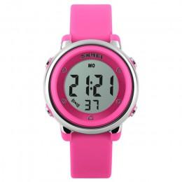 SKMEI moda sport zegarki dla dzieci wodoodporny zegarek z budzikiem dzieci tylne światło kalendarz cyfrowe zegarki na rękę Relog