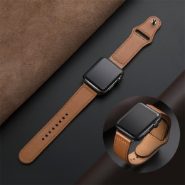 Prawdziwy skórzany pasek pasek na pasek do apple watch 42mm 44mm apple watch 4 5 38mm 40mm iwatch 3/2/ 1 korea bransoletka zamie