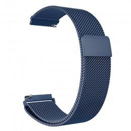 22mm pasek pleciony z siateczki metalowej milanese do Samsung Gear S3 Galaxy zegarek 46MM 42MM aktywny 2 zespół 20mm paski ze st