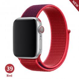 Opaska na Apple Watch seria 5 4 3 2 1 38MM 42MM pasek na rękę oddychający pasek nylonowy pętla sportowa na bransoletkę iwatch 40