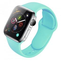 Pasek silikonowy dla Apple obserwować 38mm 42mm bransoletka sportowa gumowy pasek do zegarka dla Iwatch 5 4 44mm 40mm dla Apple