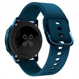 20mm pasek zegarka do Samsung Galaxy zegarek aktywny 2 40/44mm Sport silikonowe inteligentne opaski na rękę do Samsung Gear S2 C