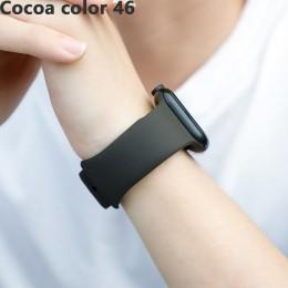 Pasek na pasek do Apple Watch 40mm iwatch 42mm 38mm bransoletka pasek silikonowy pasek do zegarków akcesoria Correa apple watch