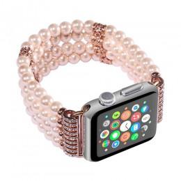 Perła pasek na pasek do Apple Watch 38mm 42mm IWatch 5 4 pasek 44mm 40mm Multicolor bransoletka dla Apple obserwować 3 2 1 akces
