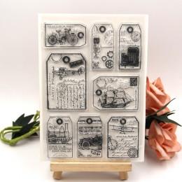 ZFPARTY Vinatge przezroczysty pieczęć silikonowa/pieczęć do DIY scrapbooking/ozdobny album na zdjęcia wyczyść pieczęć arkuszy