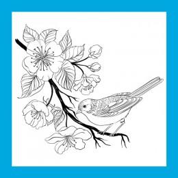 ZATBWS kwiaty i ptaki wyczyść znaczki do DIY Scrapbooking/tworzenie kartek/Album dekoracyjne pieczątki rzemiosło