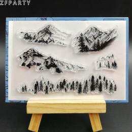 ZFPARTY ze wzorem ośnieżonych gór przezroczysty silikonowe stemple do scrapbookingu/tworzenie kartek/arkuszy dekoracyjnych