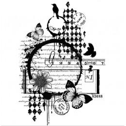 Tło wyczyść pieczęć do Scrapbooking przezroczyste gumy silikonowej DIY Photo ozdoba do albumu 106