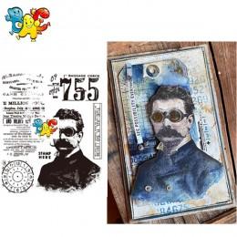 Człowiek transparentne wyraźne znaczki dla majsterkowiczów Scrapbooking/tworzenie kartek/dzieci świąteczne zabawy materiały deko