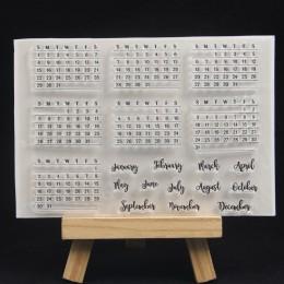 Kalendarz ZFPARTY przezroczysty pieczęć silikonowa/pieczęć do scrapbookingu/ozdobny album na zdjęcia tworzenie kartek