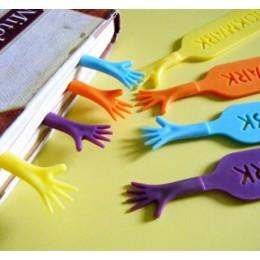 """4 sztuk/partia """"pomóż mi"""" kolorowe zakładki zestaw plastikowe nowość czytanie książek przedmiot kreatywny prezent dla dzieci dzi"""