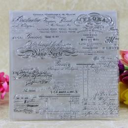 YLCS104 muzyki silikonowa przezroczysta znaczki do scrapbookingu album diy robienie kartek dekoracji przezroczysty pierścień umo
