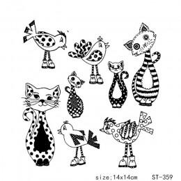 AZSG piękny plamka Sattern kot i ptak wyczyść znaczki dla DIY Scrapbooking/tworzenie kartek/Album dekoracyjne silikonowe znaczek
