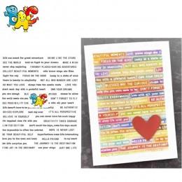 List transparentne wyraźne znaczki do DIY Scrapbooking/tworzenie kartek/dzieci świąteczne zabawy materiały dekoracyjne i umrzeć