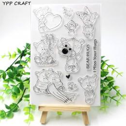 YPP CRAFT Bear Hugs przezroczysty pieczęć silikonowa/Seal for DIY scrapbooking/ozdobny album na zdjęcia wyczyść pieczęć arkusze