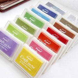 WYSE 15 sztuk/partia kolory duży rozmiar diy scrapbookingu pieczątki inkpad rocznika rzemiosła odcisk atramentowy kolorowe znacz
