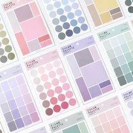 76 sztuk śliczne stałe kolorowe naklejki Kawaii Dot biurowe papier samoprzylepny samoprzylepna naklejka dla dzieci DIY Scrapbook