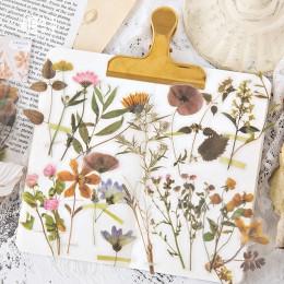40 sztuk/zestaw Vintage naklejki spadek kwiaty Bullet Journal dekoracyjna naklejka pamiętnik papiernicze naklejka na album płatk