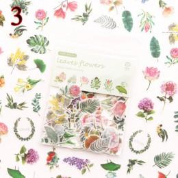 100 sztuk/worek Kawaii naklejki z kotami zielona roślina dekoracja deserowa naklejki samoprzylepne Scrapbooking pamiętnik album