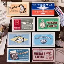 60 sztuk/pudło Vintage roślin podróży Matchbox dziennik naklejki Retro znaczki Scrapbooking koreański śliczne Bullet Journal ety