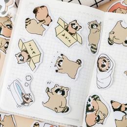 45 sztuk Kawaii szop naklejki śliczne papiernicze naklejki Bullet Journal papierowa naklejka dla dzieci DIY dekoracje Scrapbooki