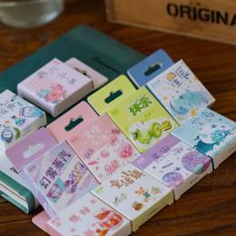 50 sztuk/pudło Kawaii jednorożec naklejki śliczne naklejki papiernicze Bullet naklejki do dziennika dla dzieci DIY pamiętnik dek