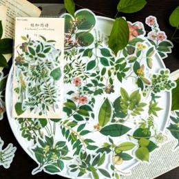 40-60 sztuk Vintage naklejki roślin kwiat jesień naklejki dla Diy Scrapbooking Bullet Journal dekoracje biurowe prezent dla dzie