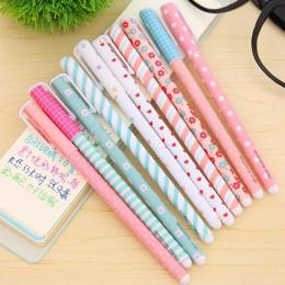 10 sztuk kolor długopis długopisy żelowe Kawaii długopis Boligrafos Kawaii Canetas Escolar śliczne koreańskie piśmiennicze