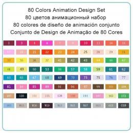 TOUCHNEW 30 40 60 80 168 kolorowe pióro artystyczne artysta Dual Head markery szkic zestaw pędzle do akwareli Pen Liners do ryso