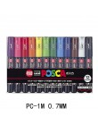 UNI POSCA zestaw pisaków POP plakat reklamy pióro Graffiti PC-1M PC-3M PC-5M PC-8K PC-17K okrągłe głowy tłustej Marker z farbą