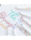 2 linie zestaw długopisów podwójna linia atrament wodny czerwony niebieski kolor wskazówka rysunek artystyczny liner scrapbookin