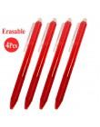 0.5mm magiczne zmazywalne pióro przycisk slajdów naciśnij kasowalna Refill Gel Pen czerwony/niebieski/czarny/zielony atrament bi