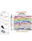 Markery na bazie alkoholu Touchfive do rysowania malarstwo szkic zestaw pisaków podwójna końcówka 30/40/60/80/168 kolory Marker
