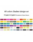 Touchfive 30 40 60 80 168 kolorów zestaw markerów markery szkicowe pędzelek do zdobień dwustronne artystyczne markery zestaw do