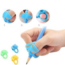 3 zestawy naparstków pisanie przedszkole dzieci początkujący prawidłowy uchwyt długopis długopis silikonowy pisanie pomoc oprawa